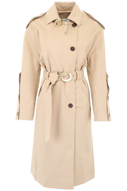 Nanushka Trench Coat in sand