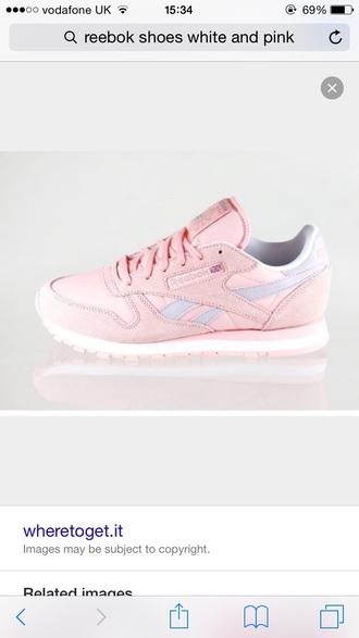shoes reebok pink