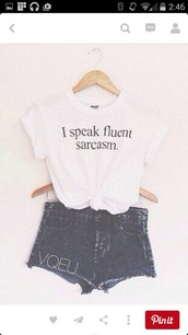 t-shirt,white t-shirt,top,letter t-shirts,tshirt design,black letters,shirt,cool,hipster,quote on it,white top,black t-shirt,shorts,cute,graphic tee,white,teenagers