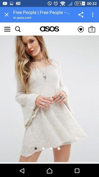 dress asos knitted dress long sleeve dress