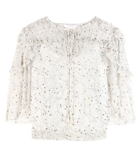 See by Chloe blouse printed blouse white top