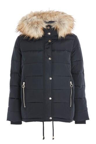 jacket puffer jacket navy blue