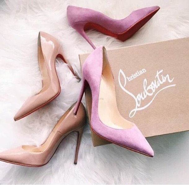 shoes heels nude pink cream christian louboutin heels cute fashion knockoffs 739f3d192f04