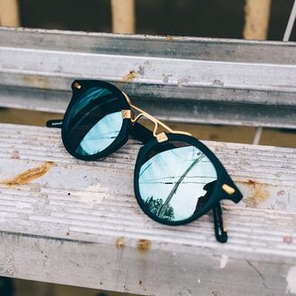sunglasses summer black blue cute tumblr cool swag soleil mode sun style holidays fashion