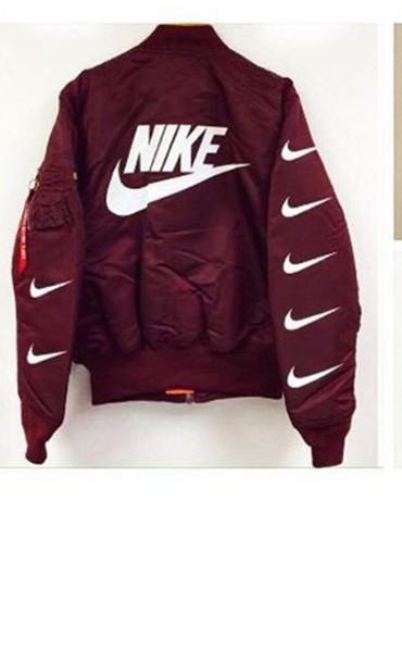 85a94470a96a jacket nike red nike jacket bomber jacket