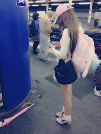 bag dakota rose kotakoti pink pastel pastel pink kawaii backpack bookbag fluffy japanese streets japanese fashion
