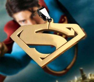 Amazon.com: sunkee Superman Necklace Pendant Gold: Toys & Games