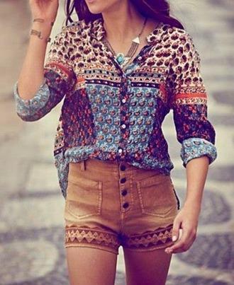 blouse orange design