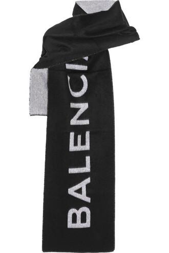 scarf black wool