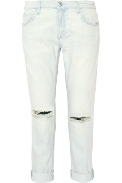 Current/Elliott - The Fling Mid-rise Slim Boyfriend Jeans - Light denim