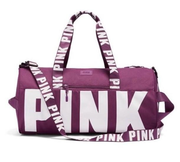 Bag Pink Victorias Secret Gym Duffle Cute By
