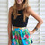Multi Shorts - Blue High Waisted Shorts with | UsTrendy
