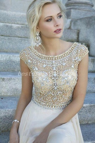 dress white white dress white gown sequin prom prom dress prom gown sequin dress sequin prom dress crystal prom dress