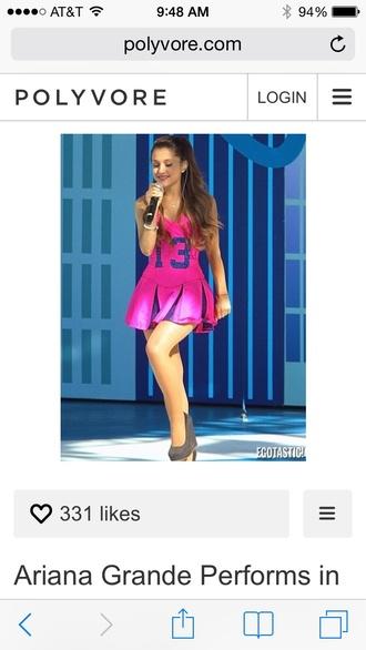 ariana grande pink dress cheerleading 13 kenley collins