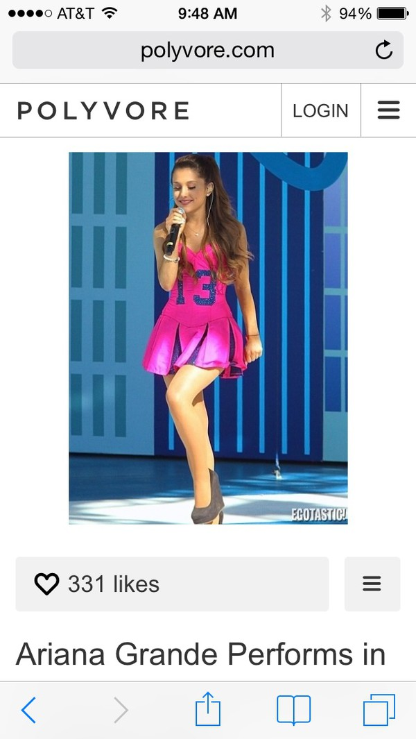 ariana grande pink dress cheerleading 13 kenley collins