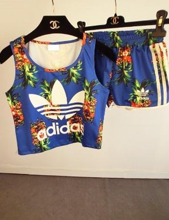 jumpsuit adidas pineapple adidas pineapple print sportswear tracksuit