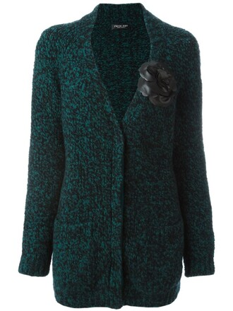 cardigan women spandex wool green sweater