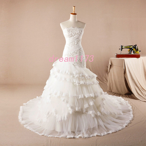 wedding dress white wedding dress bride wedding dress