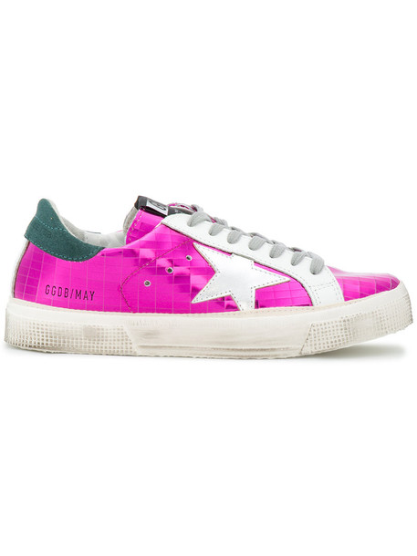 GOLDEN GOOSE DELUXE BRAND women sneakers leather purple pink shoes