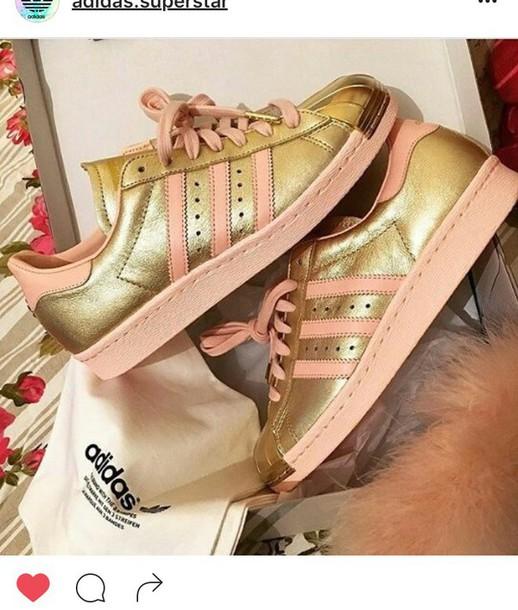shoes rose gold adidas gold adidas superstars adidas