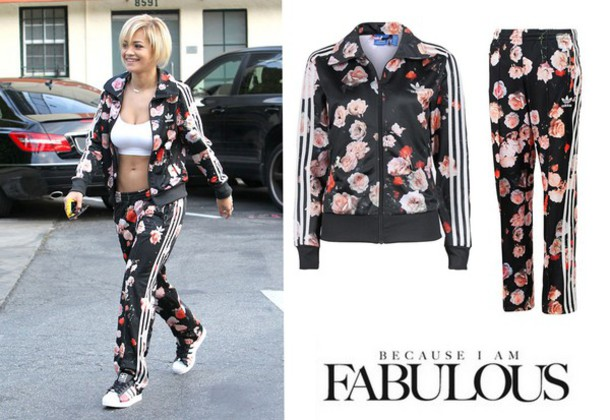 Floral Adidas Tracksuit August 2017