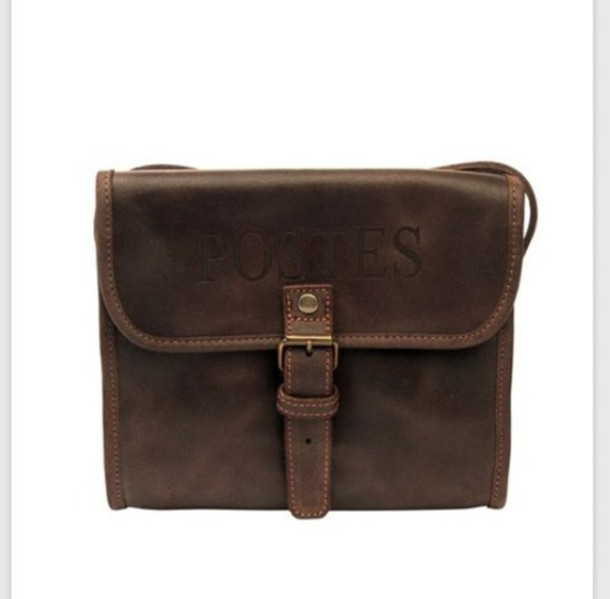 bag brown leather satchel bag purse old fashioned mail buckles postes small 5fed5da66f31