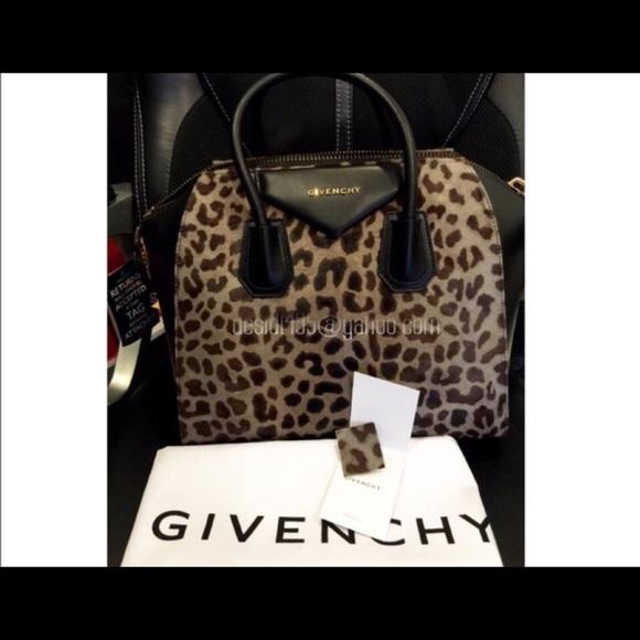 0a8f810fcf8c 24% off Givenchy Handbags - Givenchy Antigona Medium leopard from Desi's  closet on Poshmark