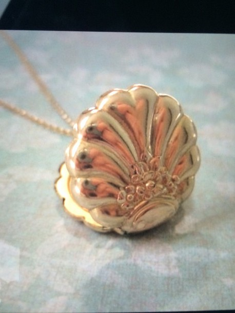 jewels shell neckless gold