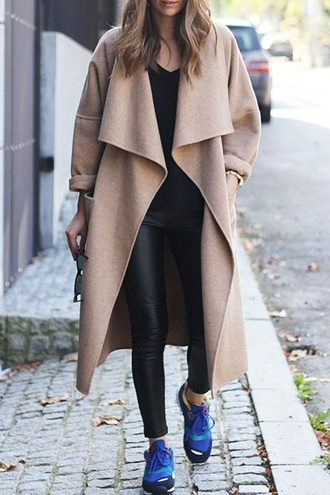 coat winter outfits winter coat beige leggings warm comfy zaful thanksgiving chic