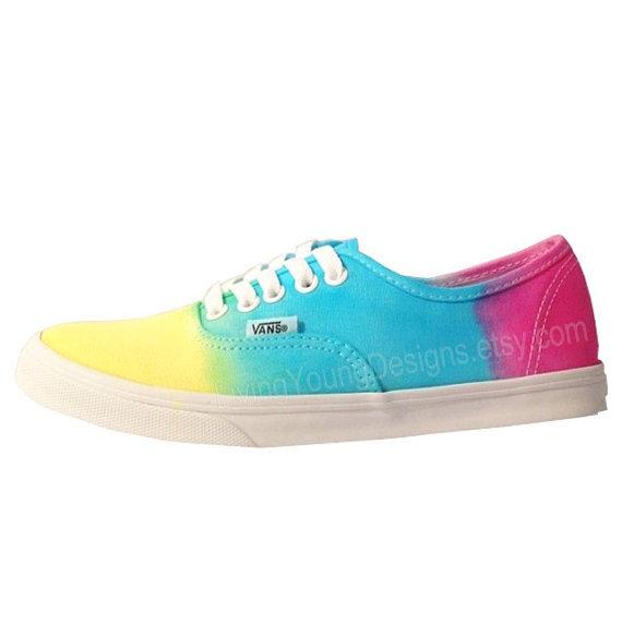 Ombre vans sale tie dye rainbow tie dye vans