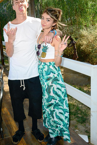 pants top crop tops coachella sarah hyland