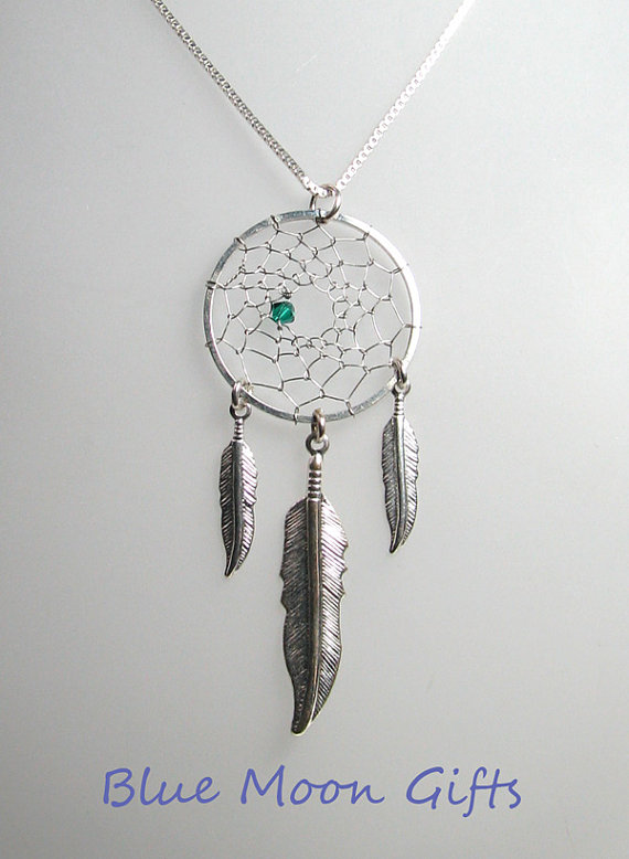 Dream catcher necklace by earthrhythms17 on etsy