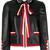 Gucci embellished bow tie jacket, Women's, Size: 42, Black, Lamb Skin/viscose/Cotton/Viscose