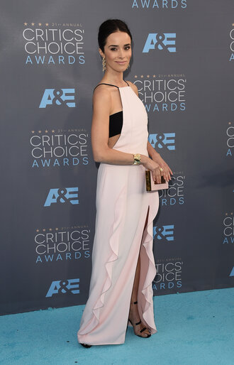dress top nude dress nude abigail spencer slit dress bandeau gown prom dress sandals shoes