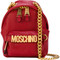 Moschino - backpack chain shoulder bag - women - leather - one size, red, leather
