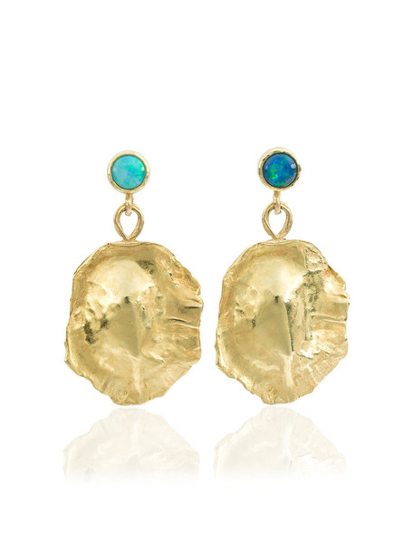 Orit Elhanati ocean women opal earrings gold jewels