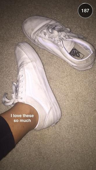 shoes cream vans what kind?