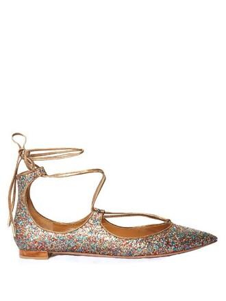 glitter flats shoes
