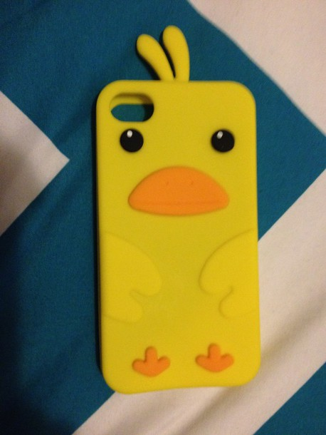 phone cover chicken little yellow
