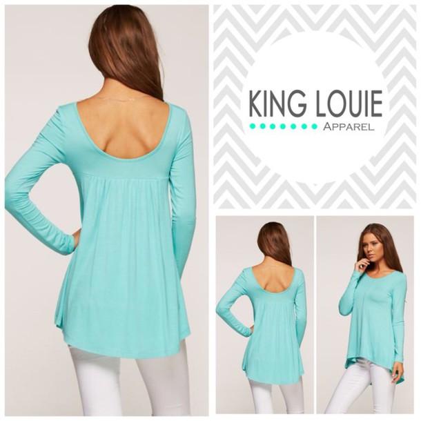 top trendy shirt blouse mint jersey online fashion boutique