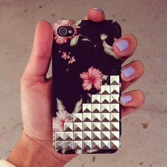 jewels i phone case i phone cover studs flowers