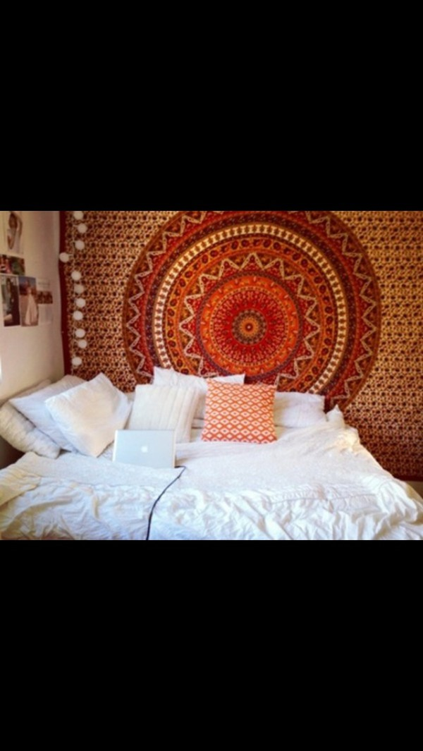 Red Mandala Tapestry Indian Hippie All Hanging