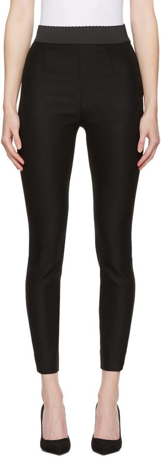 leggings black wool pants