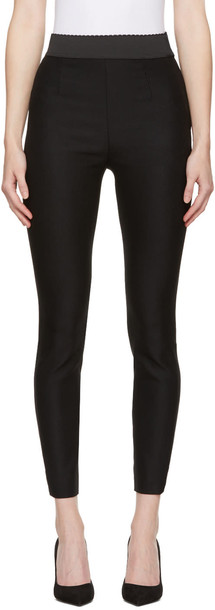 Dolce and Gabbana leggings black wool pants