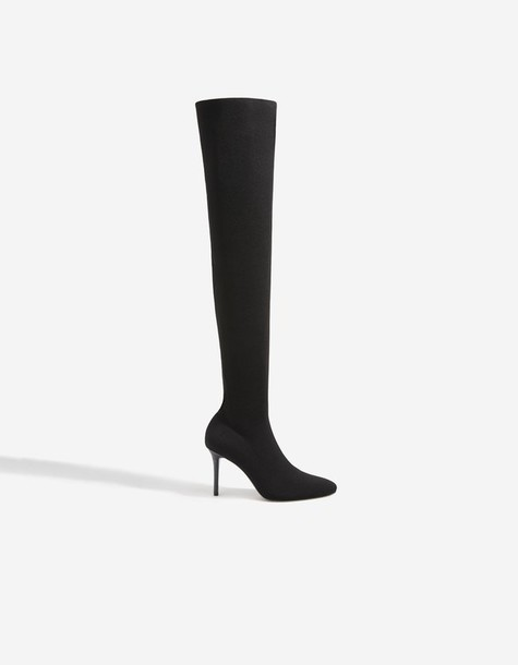 Stradivarius heel heel boots black shoes