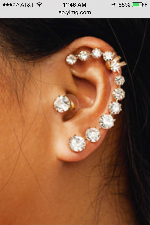 jewels jewelry earrings ear cuff fashion