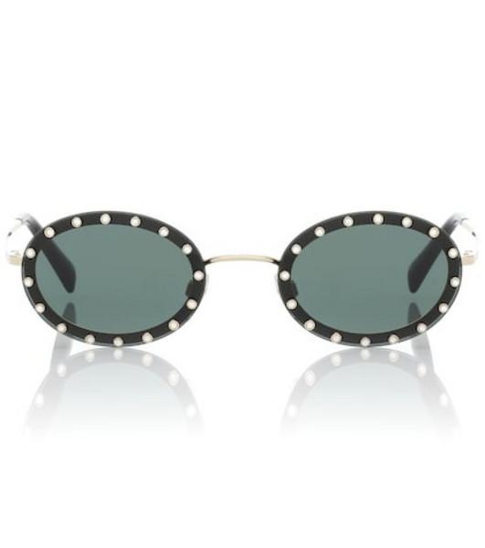 Valentino Oval sunglasses in black