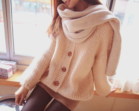 button up cream oversized oversized sweater