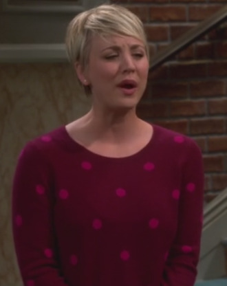 big bang theory kaley cuoco flats polka dots