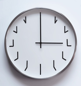home accessory pale white clock minimalist cute